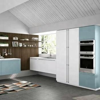 German Hot Sale White Glossy Finish Modular Small Kitchen Designs