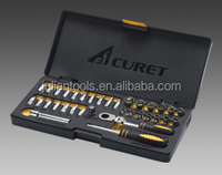 (AT-G2034) 34pcs 72T Go Through Ratchet Wrench And Socket Set / 13mm Hand Tool