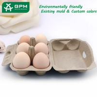 Good Quality Molded Pulp biodegradable craft egg carton boxes recycled paper egg tray for sale