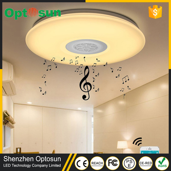 Modern Surface Mounted Dimmable RGB Lamp Fixture Round Color Changing LED  Ceiling Light With Sleep Timer