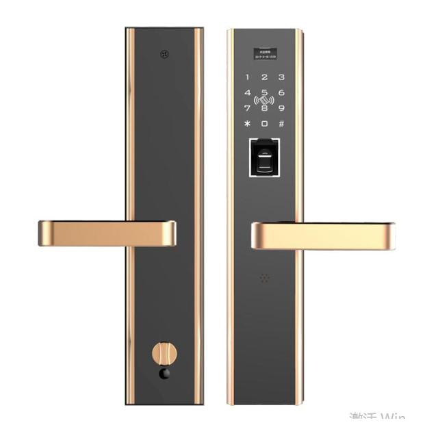 Hs Sl110 Digit Combination Glass Door Electric Strike Fingerprint Cylinder Lock
