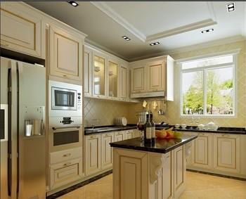 Antique Traditional American Kitchen With Arch Clic Doors