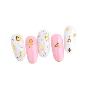 new design chrome hearts design 3d metallic nail art