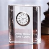 modern personalized optic crystal clock for business souvenirs gifts