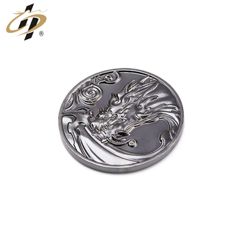 Custom  Dragon metal silver souvenir old coin with box,Game of Thrones