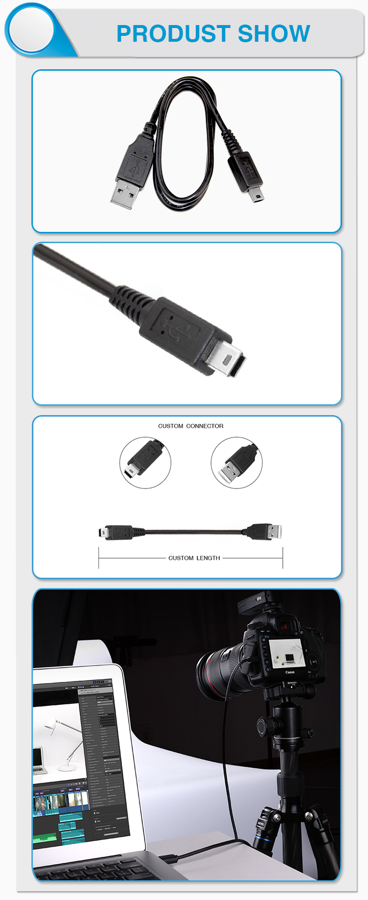 double sided dual aux 3.5mm jack din mini usb cable