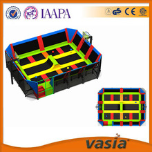 VASIA kids indoor trampoline bed professional trampoline park with safety net