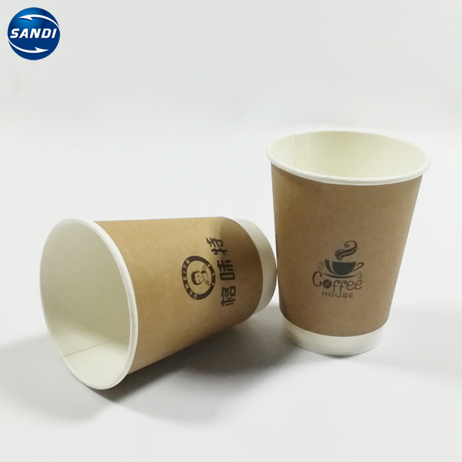 Custom full color printed double wall paper cup