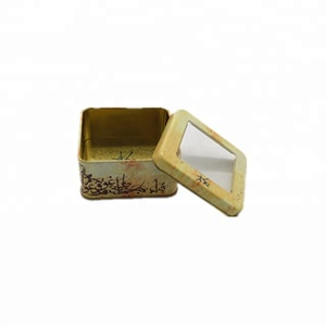 hot sale mint tin box with plastic window for candy