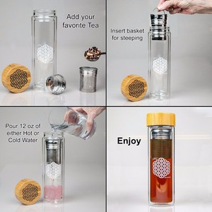2016 tunisia glass bottle water private label diffusion water bottle