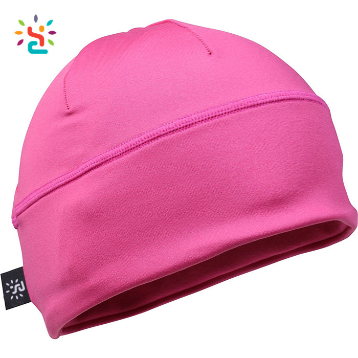 Customize Plain Running Beanie Hat Blocks 97% of UV Rays Breathable Dry fit Sport Beanie Hat Cap
