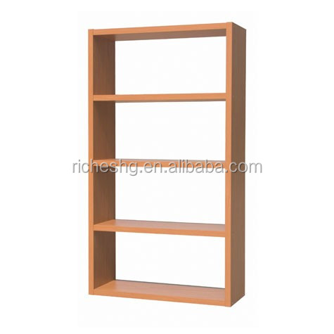 Off White Finish Open Back Vertical Type Solid Wood Bookcases ...