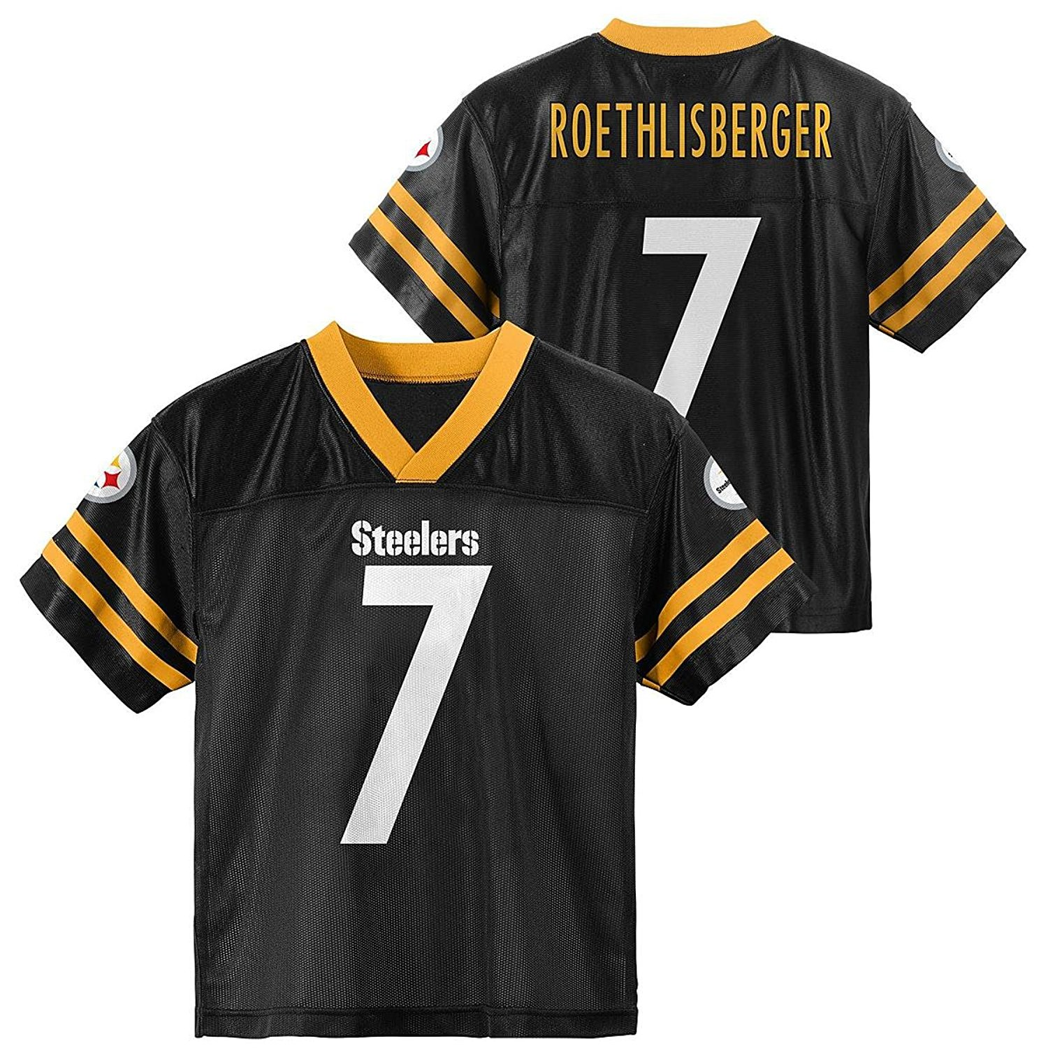4531cea8 Get Quotations · Ben Roethlisberger Pittsburgh Steelers #7 Black Toddler  Player Home Jersey