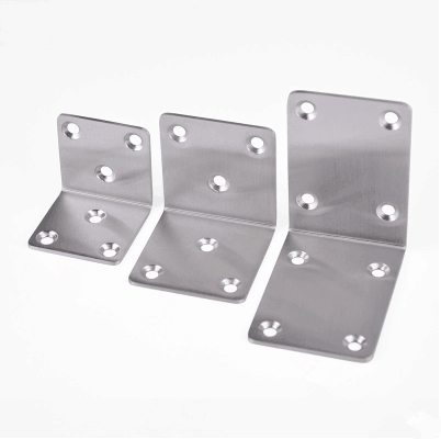 Custom sheet metal adjustable angle iron corner bracket