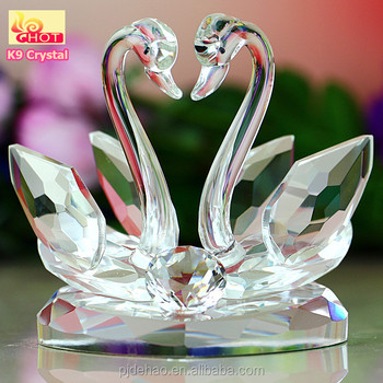 Wholesale Wedding Gift Crystal Glass Swan Or Home Decorations Showpiece
