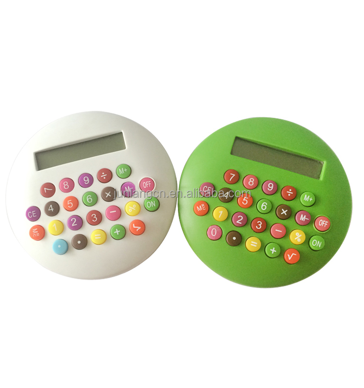 8 Digits Colorful Electronic Pocket Calculator Promotional Gifts