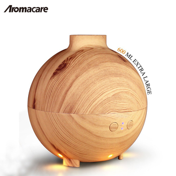 Hot Sale Whole House Wood Grain Aroma Diffuser 600ml Ultrasonic Air Humidifier