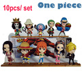 Anime One Piece 10pcs set 68S New World Figure Luffy Nami Sanji Zoro Chopper Combination Movie