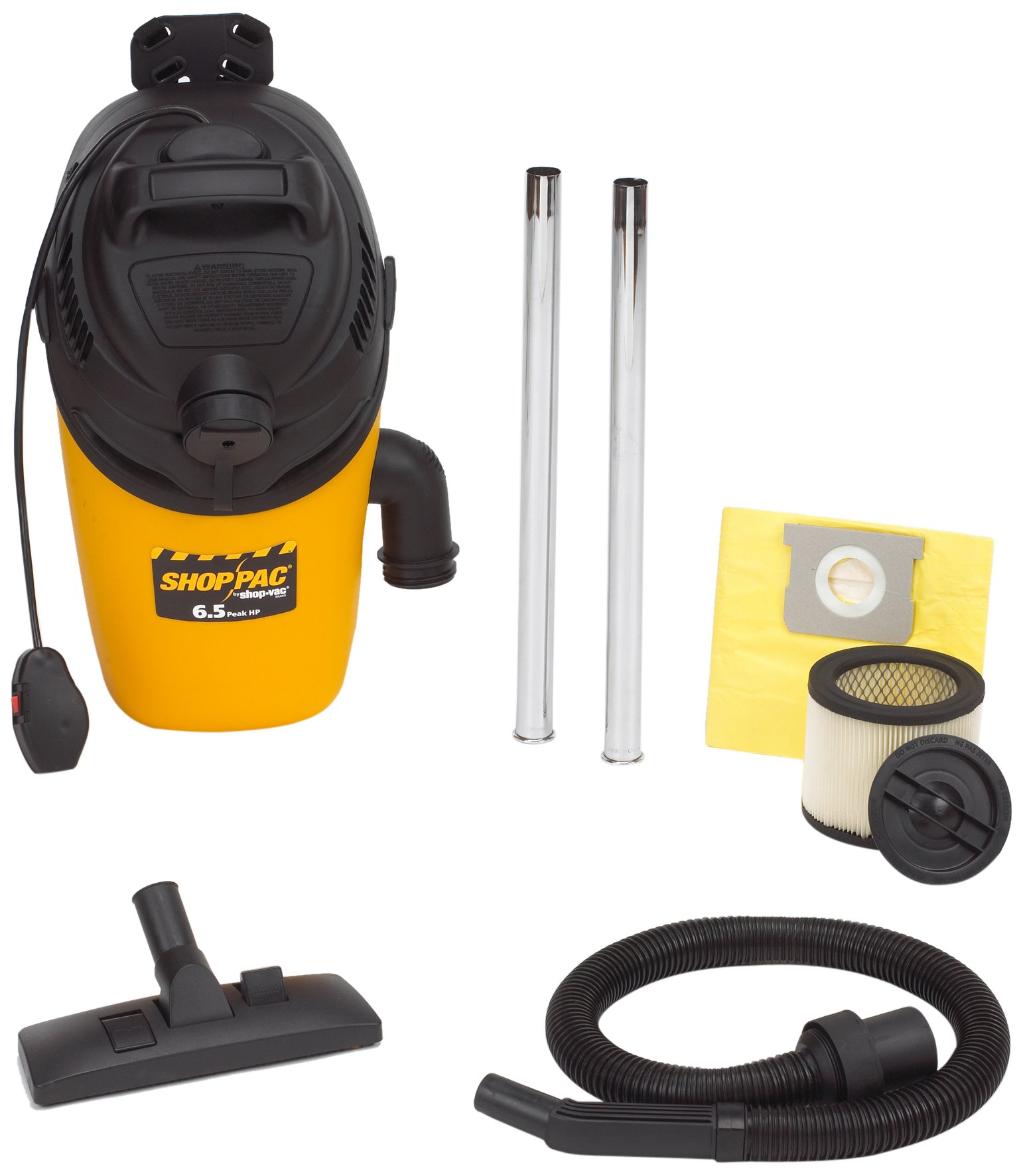 Shop-Vac 2860010 6.5-Peak HP Industrial BackPack Vacuum