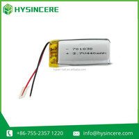 compatible batteries HPL701838 li-polymer battery 3.7v with 440mah for MP3/MP4/MP5 player/PDA/redio contro helicopter toys