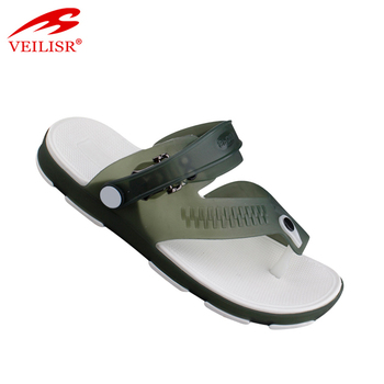 254bf86d1 New design men jelly shoes clear PVC flip flops beach thong sandals ...