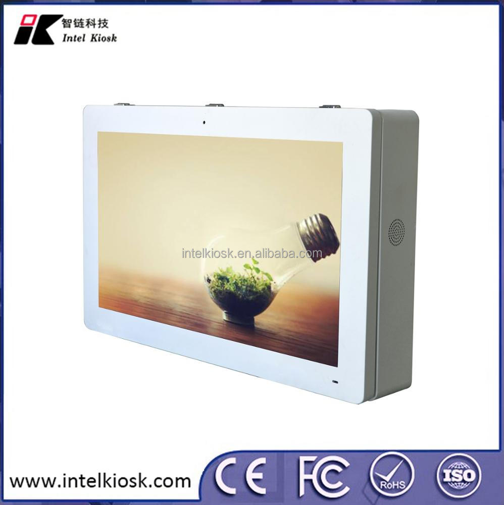 Wall mounted media video display lcd players outdoor digital signage advertising