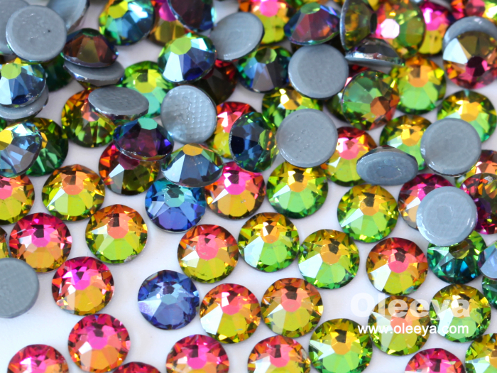 Wholesale Over 60 Colors 2088 Style 16 Cuts Glass German Intensive Glue Hot Fix Rhinestones Iron on Rhinestone for Wedding Dress