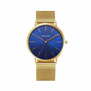 Custom watch supplier mens gold plated wrist watch colorful logo face your logo non no brand watches