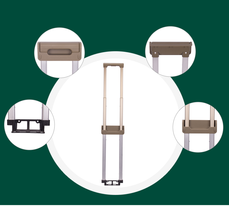 Details of retractable luggage handle