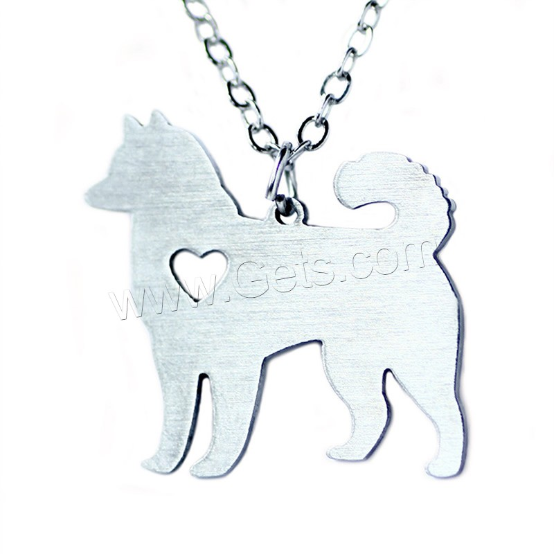 1152663 stainless steel pendant necklace dog shape animal pendant