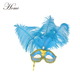 Very hot sell blue cock feather mask for party