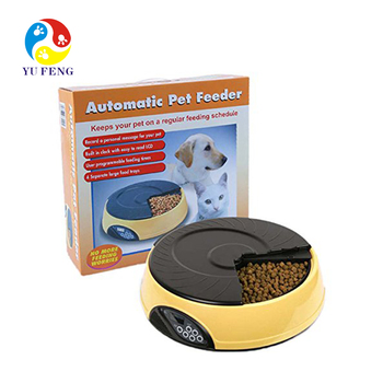 dog cat automatic feeder water container timer food dispenser