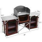 Lightweight Portable Table Lightweight Portable Pack-away Kitchen Picnic Barbecue Cooking Table
