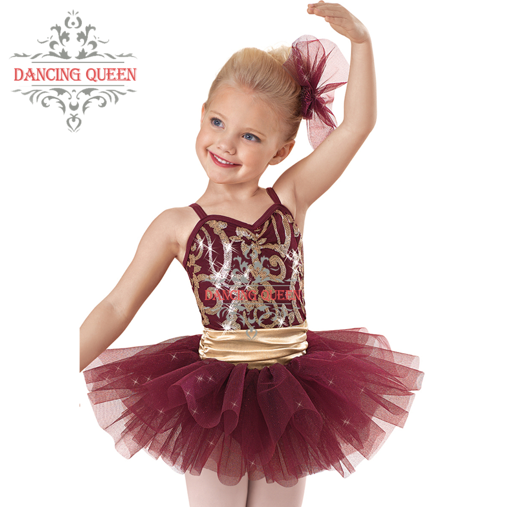 e4d345e88cf9 Buy Headpiece Included! Brilliant Stretch Satin Sequin Ballet Tutu ...