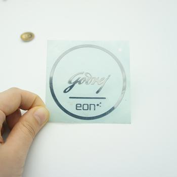 Custom thin electroforming nickel metal sticker metal logo decal maker