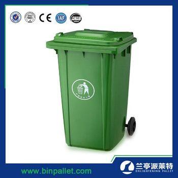 green color outdoor garbage bin 120 liter plastic dustbin 13 gallon trash can