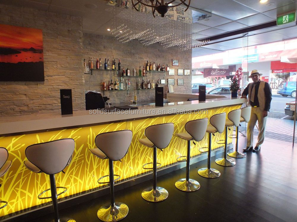 Custom high end fancy led lighting interior design cafe bar