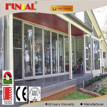 China Supplier Used Exterior Aluminum Frame Glass Bi Folding Door
