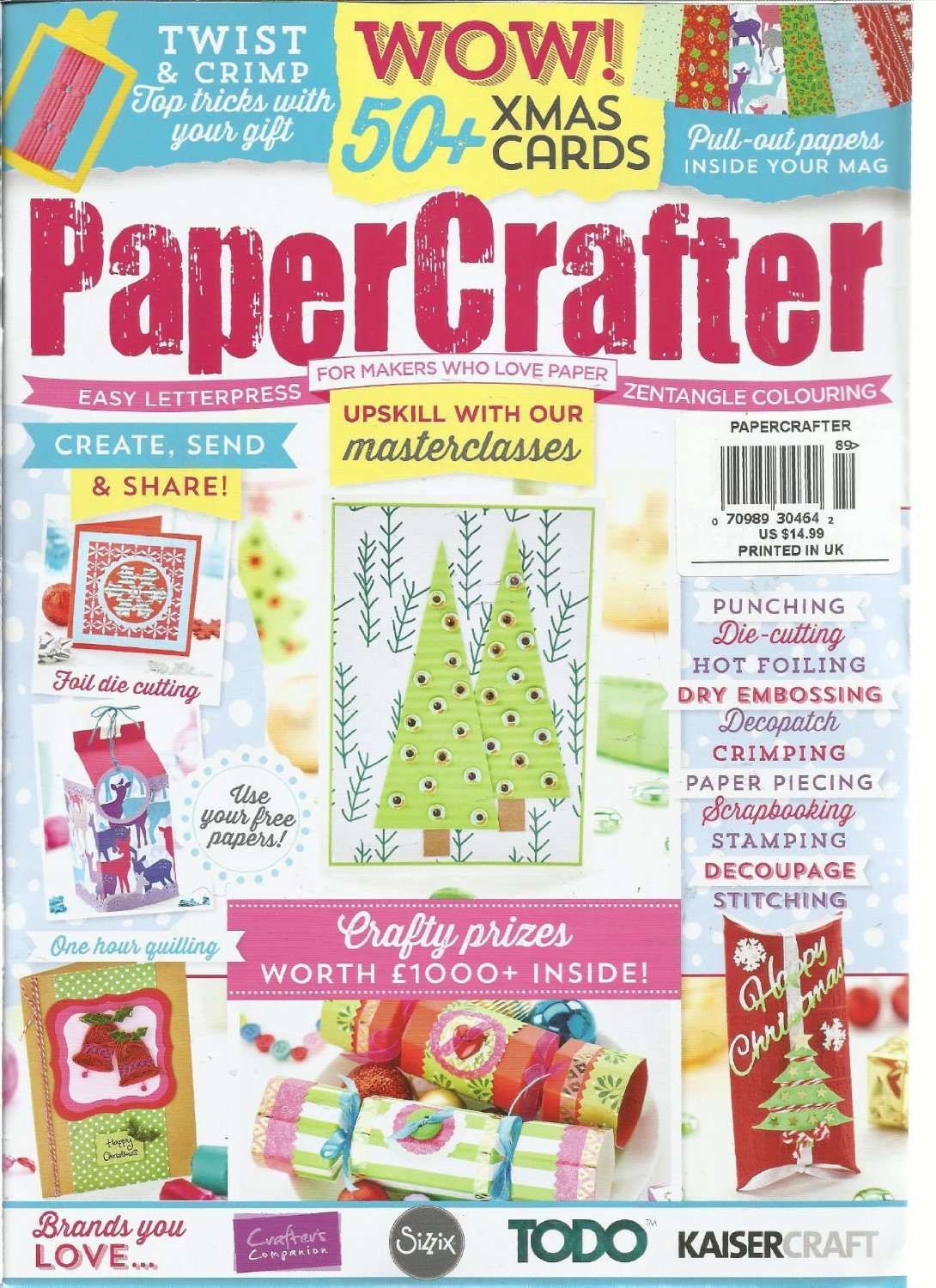 PAPER CRAFTER, FOR MAKERS WHO LOVE PAPER ISSUE, NO 89 ( WOW! 50 + XMAS CARDS )