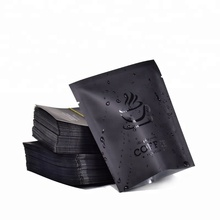 Hot tea foiled silver sachets/black plastic packing zipper tea/coffee bag custom printed three-layer laminated aluminum bag