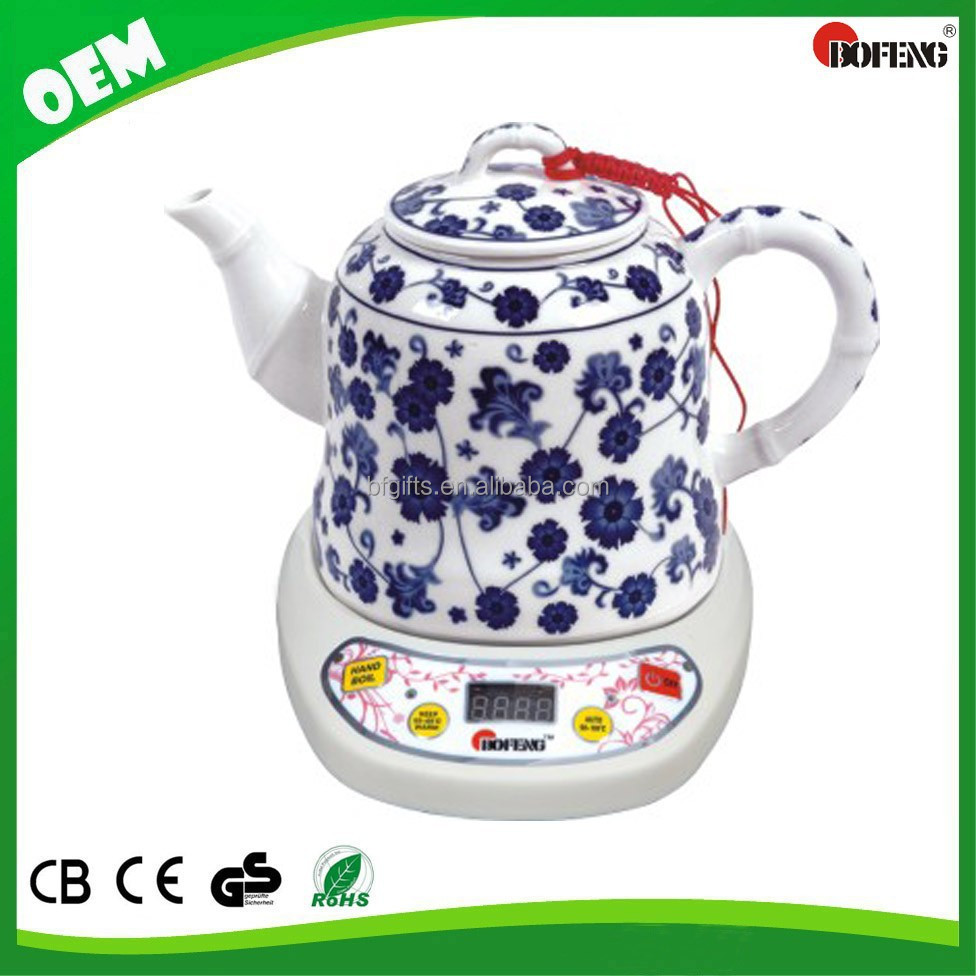 Chinese Popular Customized Fashionable1.2L jingdezhen porcelain tea tray teapot digital kettle