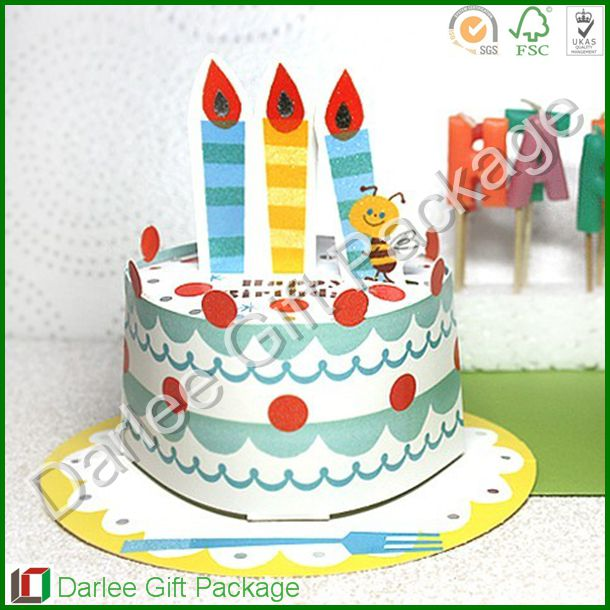 Paper Birthday Cakehappy Birthday Cards3d Birthday Card Buy