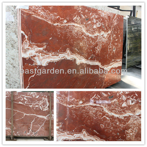 Red Peony Mable, New Red Marble