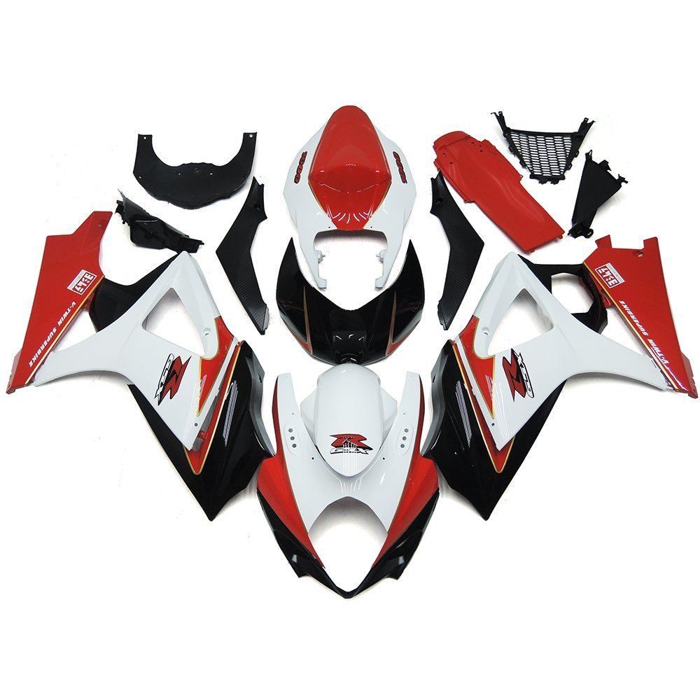 Sportfairings Complete Motorcycle Fairings For Suzuki GXSR1000 K7 Year 2007 2008 Injection ABS Plastic White Red Black