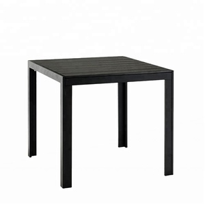Poly Wood Restaurant Ware Patio Part Pedestal Square Granite Top Dining Table
