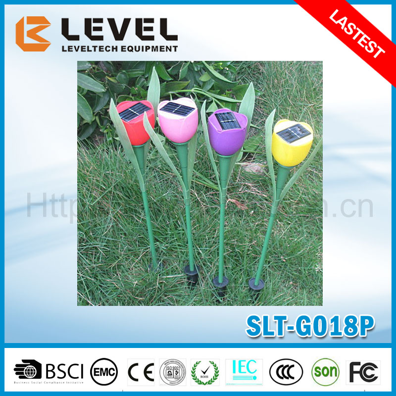 Outdoor Solar Path/Street/Garden Waterproof RGB Color Plastic Tulip Electric Lights