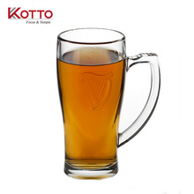 360ml embossed tankard beer mug glass for gift promotion drinkware customizable logo