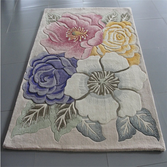 high quality 100% Wool French Handmade Aubusson Carpet from Tianjin China