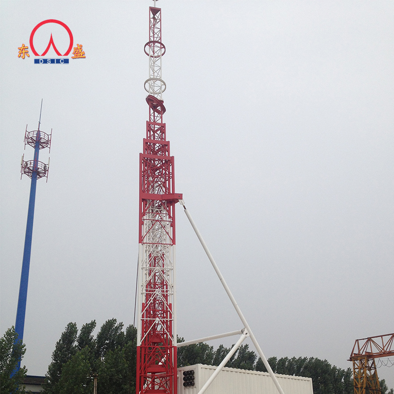 12m Mobile Telescopic Mast Tower Galvanized Support Angle Iron Telecom  Antenna Tower Mast - Buy Telescopic Mast Tower,Iron Telecom Antenna