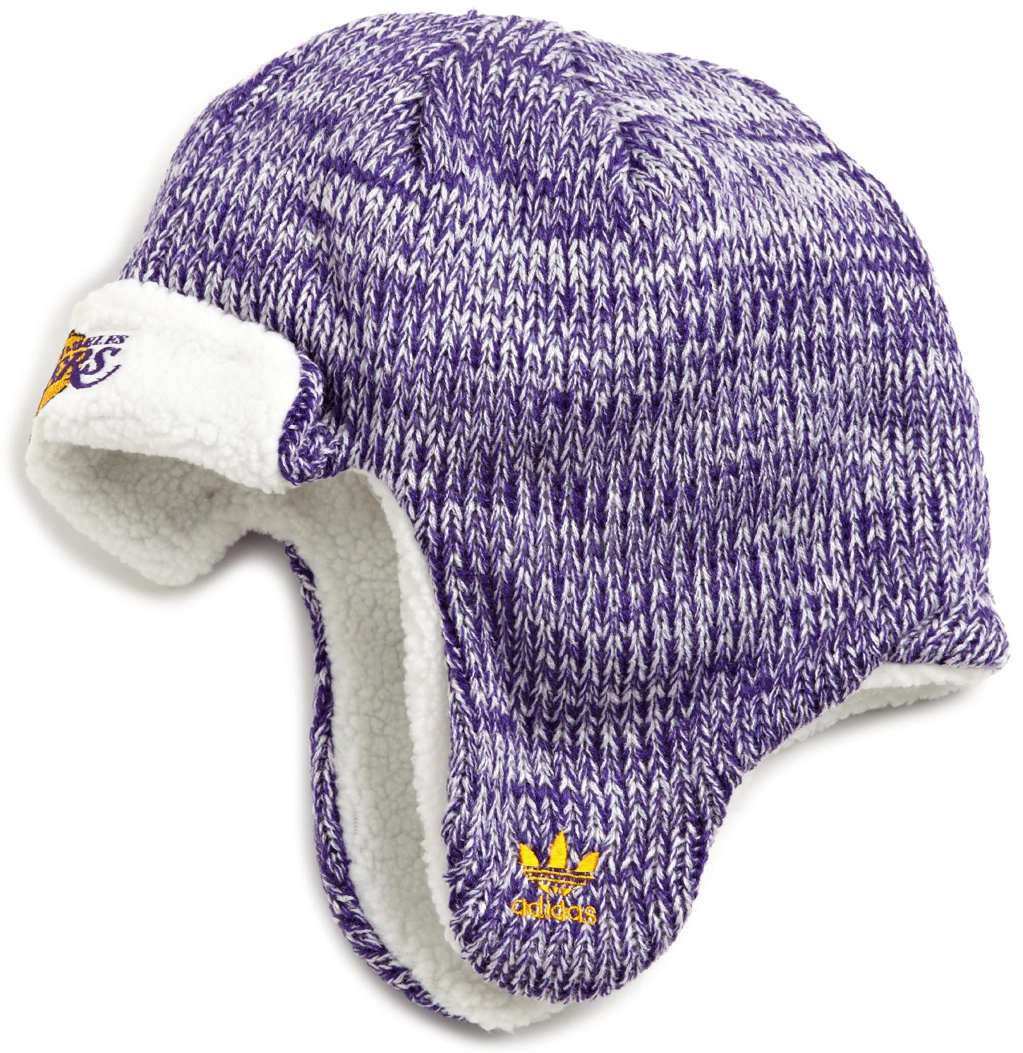b108570bbb3 Get Quotations · NBA Trooper Knit Hat - Ke84Z, Los Angeles Lakers, One Size  , Los Angeles